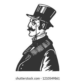 Victorian Gentleman Drawing Images Stock Photos Vectors Shutterstock
