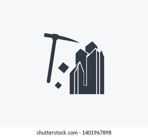 Geology icon isolated on clean background. Geology icon concept drawing icon in modern style.  illustration for your web mobile logo app UI design.