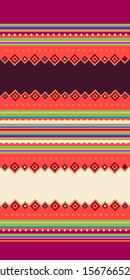 Geometric andean texture with typical colors