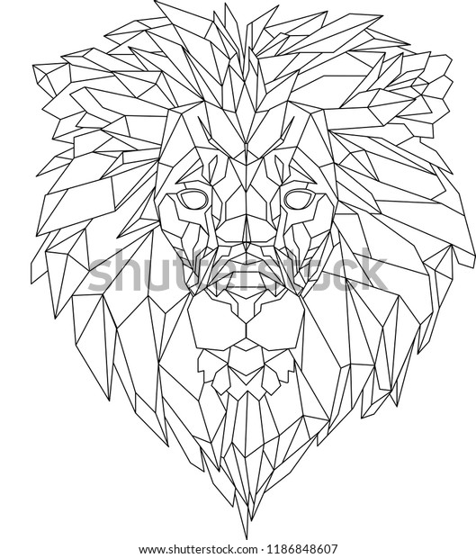 Geometric Animal Lion Head Black White Stock Illustration 1186848607 Men who want small and simple lion tattoos might pick a tribal design with black lines illustrating a creative version or the astrological symbol for leo. https www shutterstock com image illustration geometric animal lion head black white 1186848607