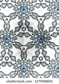 Geometric, art deco design.
