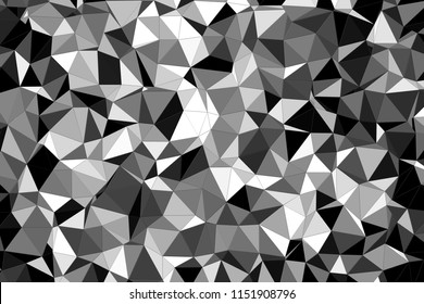 Geometric black and white texture. Background of black and white geometric shapes. Camouflage pattern in black and white