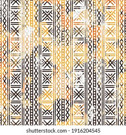 Geometric Boho Style Tribal pattern with distressed texture and effect