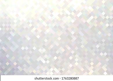 Geometric brilliance background. Shimmer white mosaic pattern.