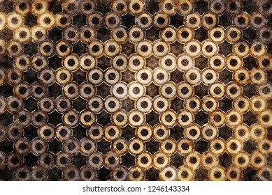 Geometric circles burnout browns