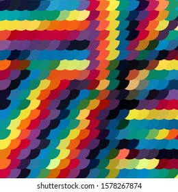 Geometric colorful background. Abstract halftone illustration pattern. Vintage texture