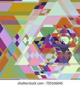 Geometric Colorful Triangle Shape Layers