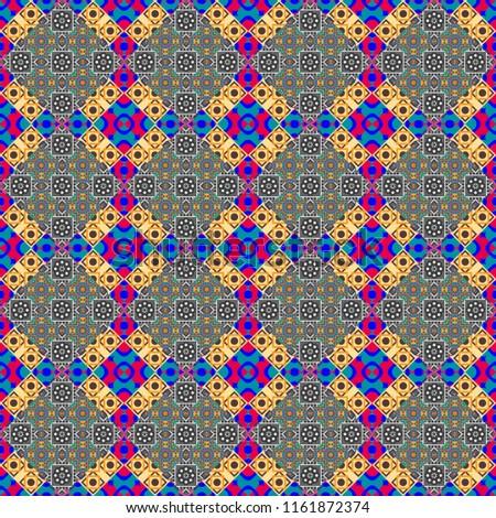 c3e6a0606e3 Geometric Design Template Blue Yellow Gray Stock Illustration ...