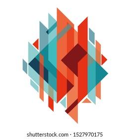 Geometric element, minimalistic design, creative concept. Jpeg