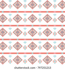 Geometric ethnic inspired pattern.
