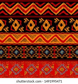 Geometric ethnic pattern. Design for background, fabric, carpet, wallpaper, clothing.