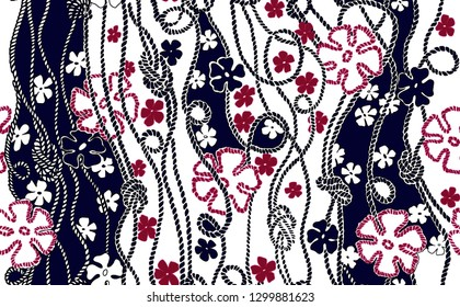 Geometric and flowers pattern..for textile, wallpaper, pattern fills, covers, surface, print, gift wrap, scrapbooking, decoupage.Seamless pattern