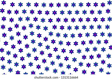 Geometric glade with blossoming asteraceae. Subtlety theme.