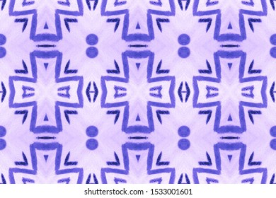 Geometric Grunge Background. Elegant Style. Wintery Blue, Indigo On Light. Watercolour Dip. Abstract African Stylized Decor. Watercolor Wallpaper On Paper Texture.