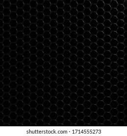 Geometric hexagonal black carbon modern background - 3d render