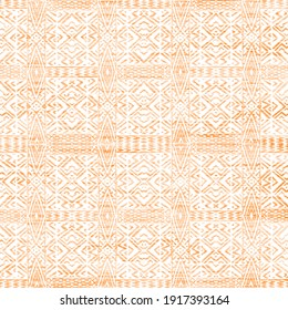 Geometric kilim ikat pattern with grunge texture