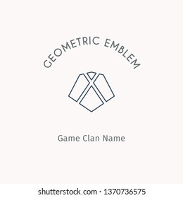 Geometric logo template. Linear modern symbol for alternative or extreme sport teams and crews