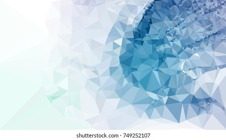 Geometric low polygonal background. Abstract mosaic backdrop in red color. Design element for book covers, presentations layouts, title backgrounds. Raster clip art.