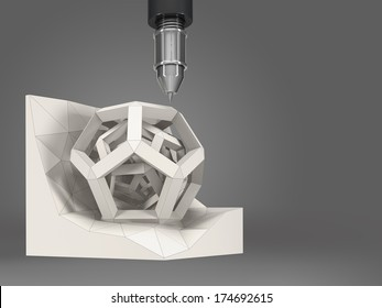 geometric object, 3D abstract