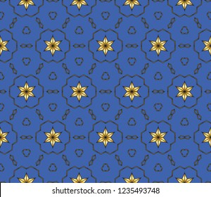 geometric ornament. Abstract   fractal. Background image. geometric seamless pattern.