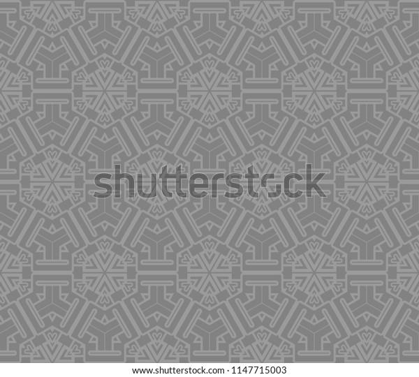 geometric ornament on color background. Seamless   illustration. For interior design, fashion, wallpaper