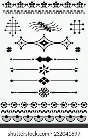 Geometric page decorations