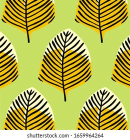 geometric pattern. Abstract stylish background with texture of abstract leaves. Floral organic background. pattern is on swatches panel