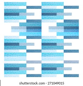 geometric pattern background. Rectangles blue pattern background for greeting card.