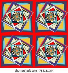 geometric pattern colourfull
