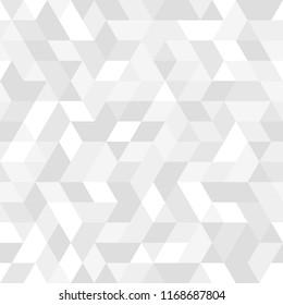 Geometric pattern with light triangles. Geometric modern ornament. Seamless abstract background