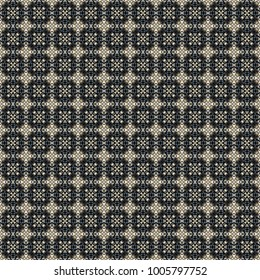 Geometric pattern in repeat. Fabric print. Seamless background, mosaic ornament, ethnic style. Design for prints on fabrics, textile, surface, paper, wallpaper, interior, patchwork, wrapping.