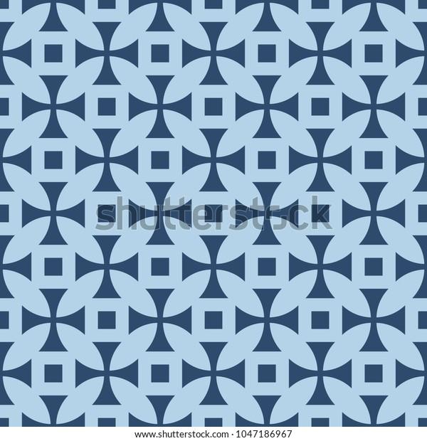 Geometric Pattern Repeat Fabric Print Seamless Stock Illustration