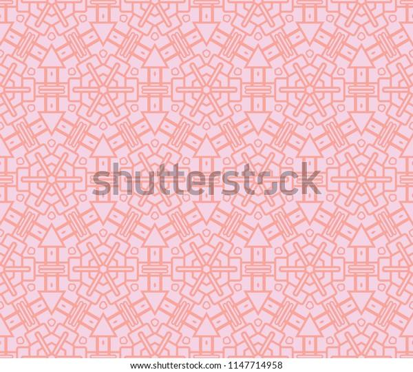 Geometric pattern in repeat. Seamless background, Design for prints on fabrics, textile, paper, wallpaper, interior, patchwork