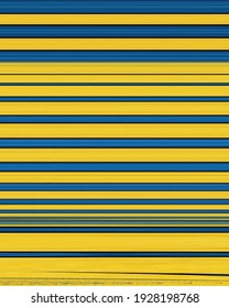 geometric rectangular stripes in shades of blue and yellow on a black background