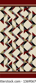 geometric scarf design.abtract art design