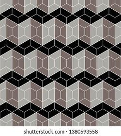 Geometric seamless pattern. Beautiful tile design.  Abstract geometric  graphic design print 3d  pattern.