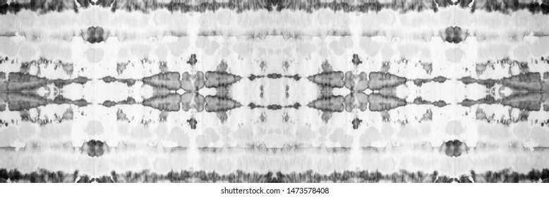 Geometric Seamless Tie Dye. Dirty Style. Liquid Japanese Rug. Folk Decoration. Charcoal Blur. Light Tones. Boho Bright Dashiki. Textile Panoram.