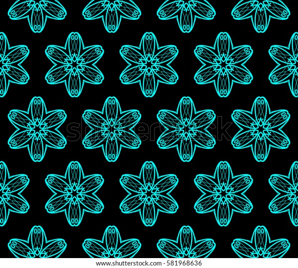 Geometric shape abstract Raster copy illustration. Seamless pattern.