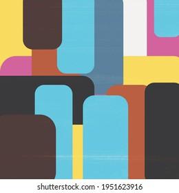 Geometric Shapes Artwork Illustration Painting Square Art