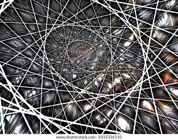 Geometric Spiral Construction Mathematical Symbol Digital Stock