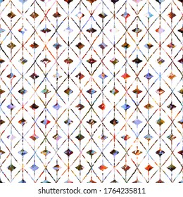 Geometric texture pattern with watercolor effect