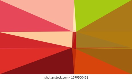 geometric triangles style in burly wood, crimson and skin color. abstract triangles composition. for poster, cards, wallpaper or texture.