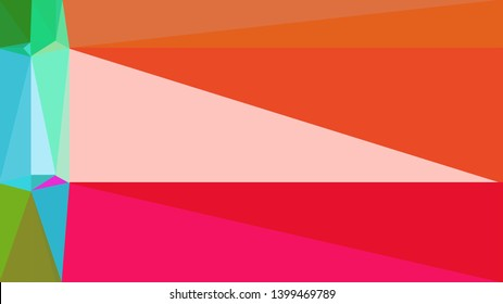 geometric triangles style in crimson, baby pink and coffee color. abstract triangles composition. for poster, cards, wallpaper or texture.