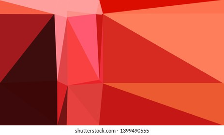 geometric triangles style in crimson, coral and very dark red color. abstract triangles composition. for poster, cards, wallpaper or texture.