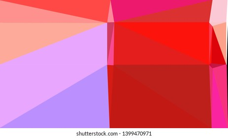 geometric triangles style in crimson, plum and light pink color. abstract triangles composition. for poster, cards, wallpaper or texture.