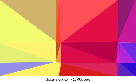 geometric triangles style in khaki, crimson and moderate violet color. abstract triangles composition. for poster, cards, wallpaper or texture.