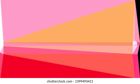 geometric triangles style in light salmon, pastel magenta and crimson color. abstract triangles composition. for poster, cards, wallpaper or texture.