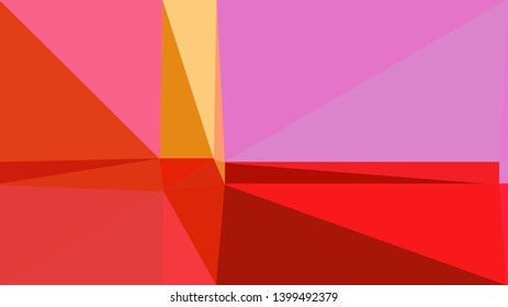 geometric triangles style in orchid, crimson and light coral color. abstract triangles composition. for poster, cards, wallpaper or texture.