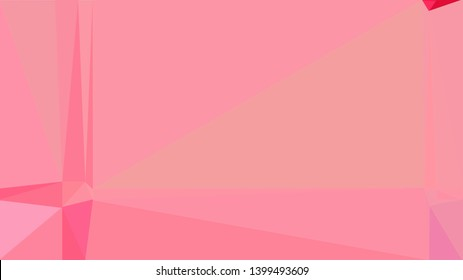 geometric triangles style in pastel magenta, light coral and crimson color. abstract triangles composition. for poster, cards, wallpaper or texture.
