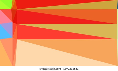 geometric triangles style in sandy brown, wheat and crimson color. abstract triangles composition. for poster, cards, wallpaper or texture.